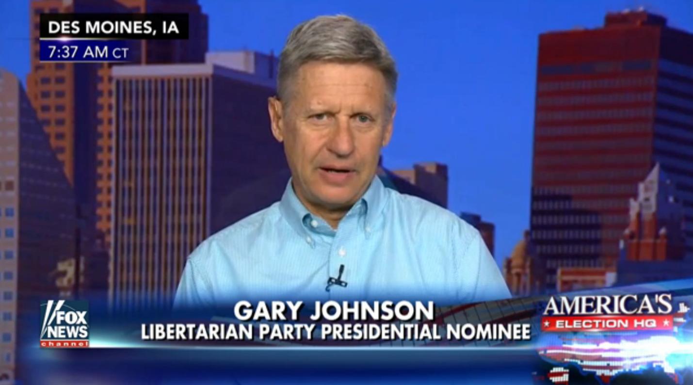 gary johnson fox news polling