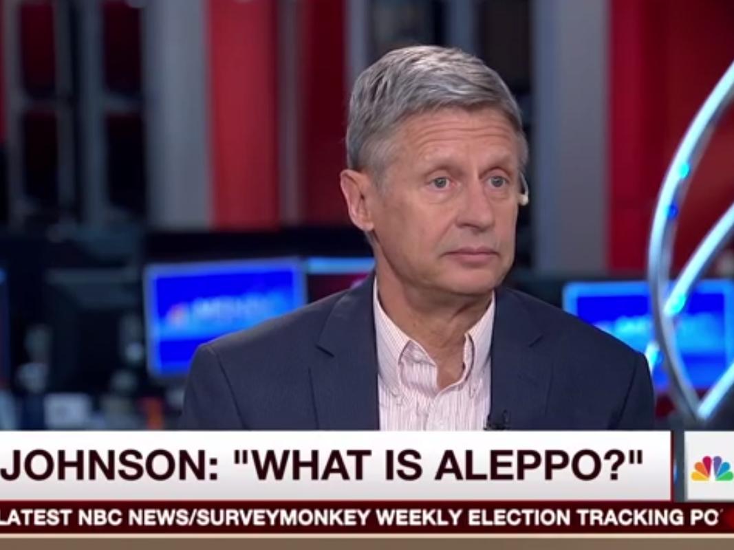 Johnson, Aleppo