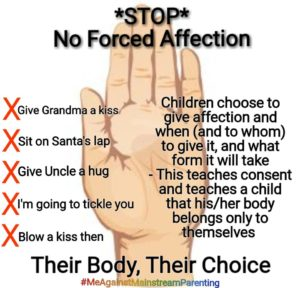 no forced affection