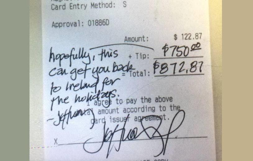 Waiter Receipt