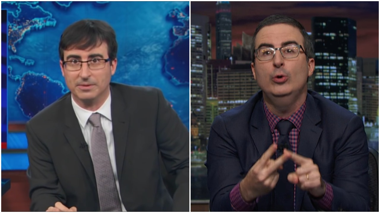WATCH: John Oliver Ends Up Eating His 2013 Words on Trump