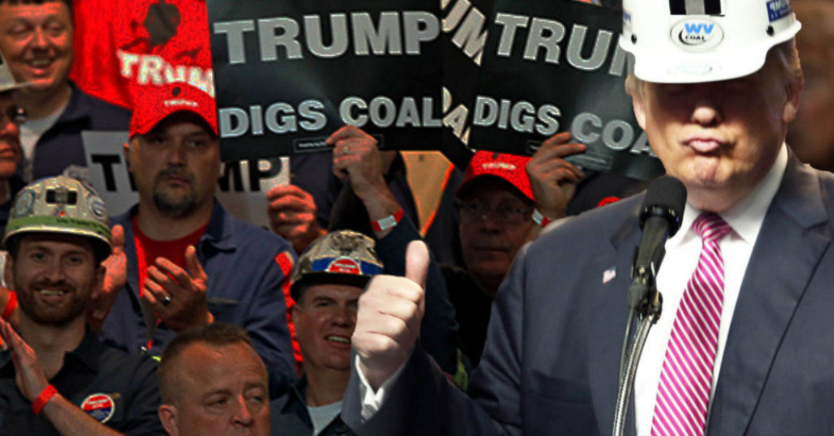 Image result for trump and coal