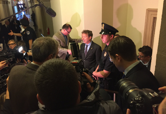 Rand Paul Blocked By Armed Guards From New Obamacare Bill