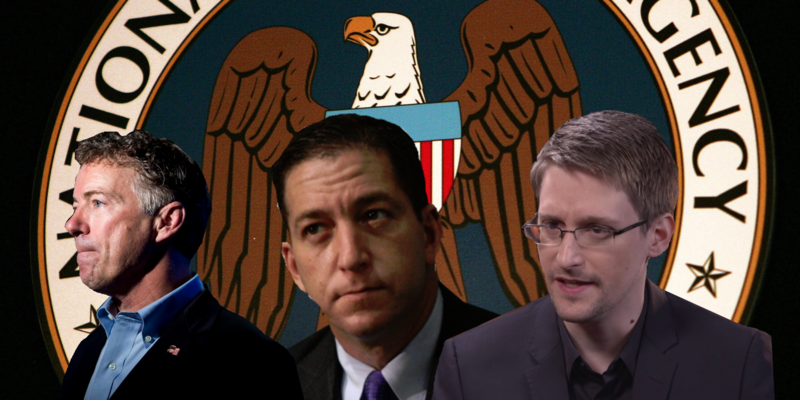 Paul, Snowden, and Greenwald: Gov't Using Backdoor to Wiretap Americans