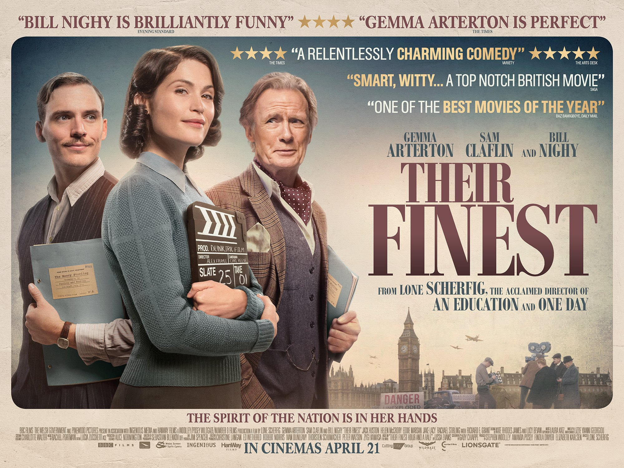 """Sneak Preview Review: """"Their Finest"""" Great Drama, Bad Politics."""