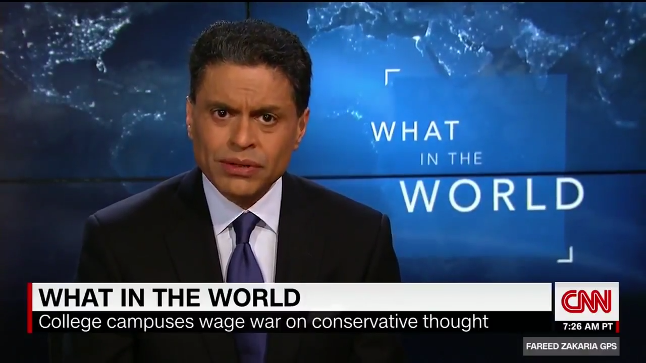 "CNN's Zakaria: ""Liberals Think They Are Tolerant, But Often They Aren't"" [VIDEO]"