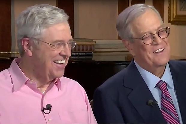 Koch Network Backs Comprehensive Tax Reform