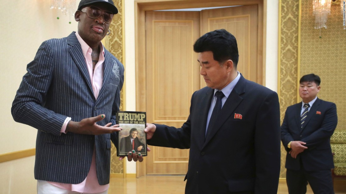 Dennis Rodman Gave Kim Jong Un Trump's Iconic 'Art Of The Deal'