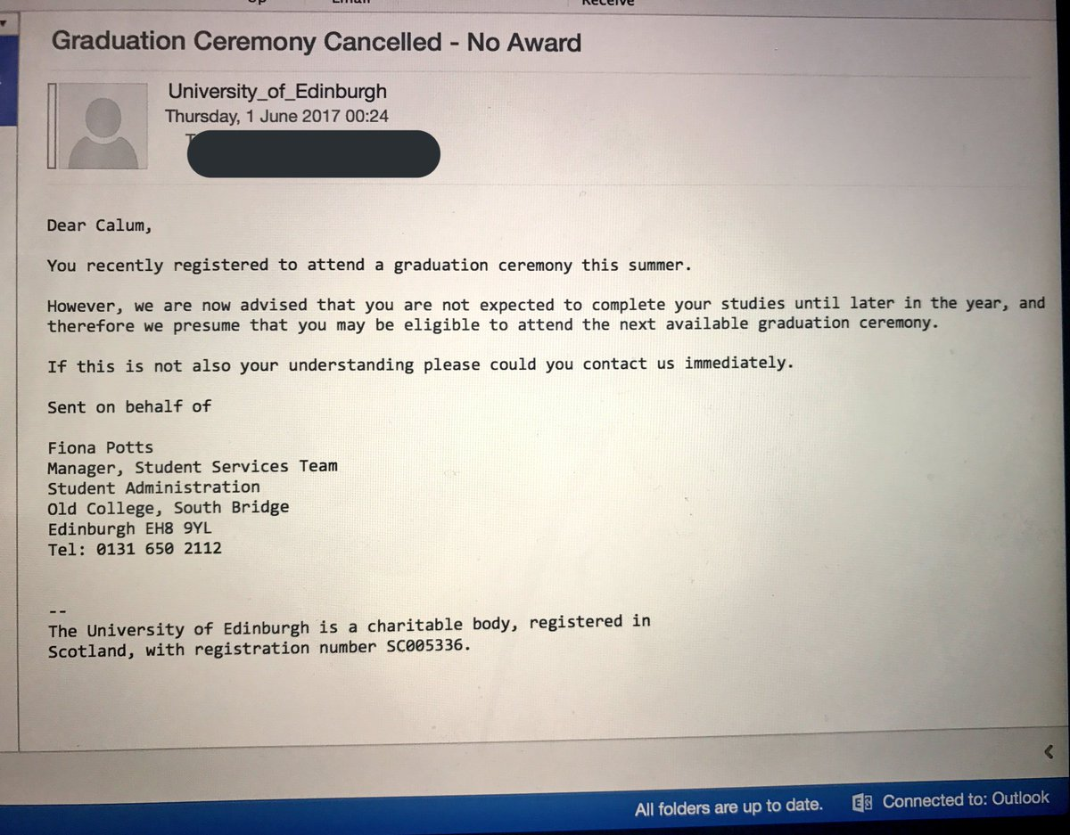 students panic after fake email says they won t graduate