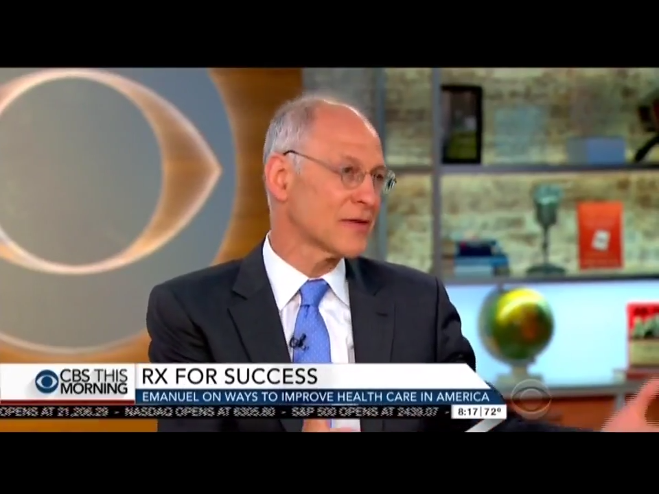 Ezekiel Emanuel: Obamacare 'Absolutely' Needs To Be Fixed [WATCH]