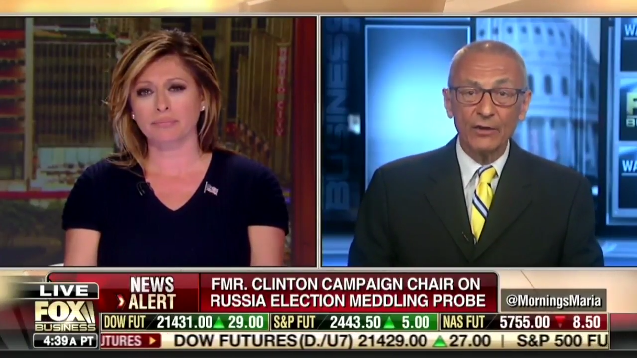 Fox Business Host Accuses Podesta Of Having Financial Ties To Russia [VIDEO]