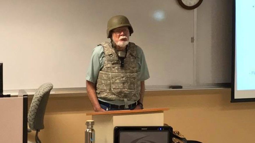 Texas Professor Wears Combat Gear in Protest of Campus Carry