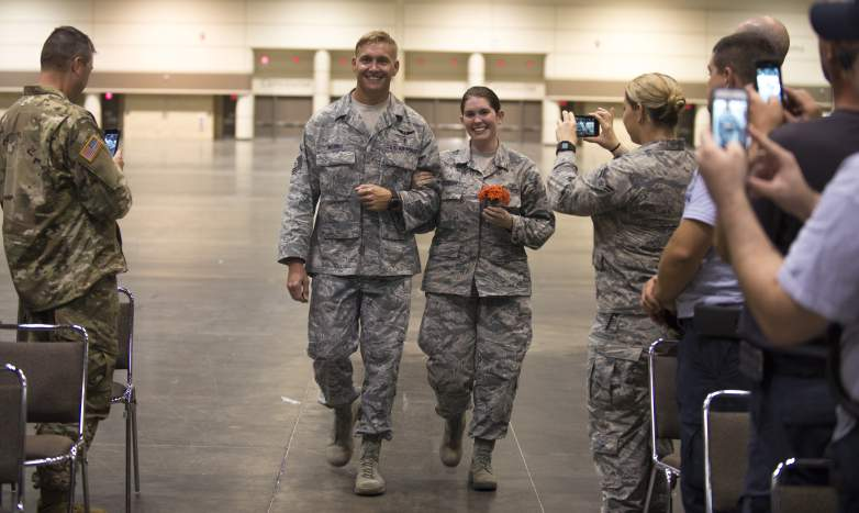 Air National Guard Couple gets Married While Mobilized in Support of Hurricane Irma Rescue and Relief