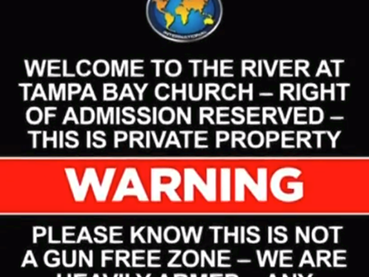 Florida Church Warns 'This Is Not A Gun-Free Zone'