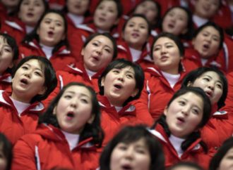 Kim Jong Un Lookalike Riles Up North Korean Cheerleaders At The Olympics