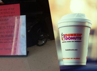 Dunkin' Donuts Sign Advertises Free Pastries If Customers Report Employee Not Speaking English
