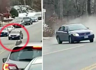 Man Films High-Speed Car Chase. Then The Car Hit Him