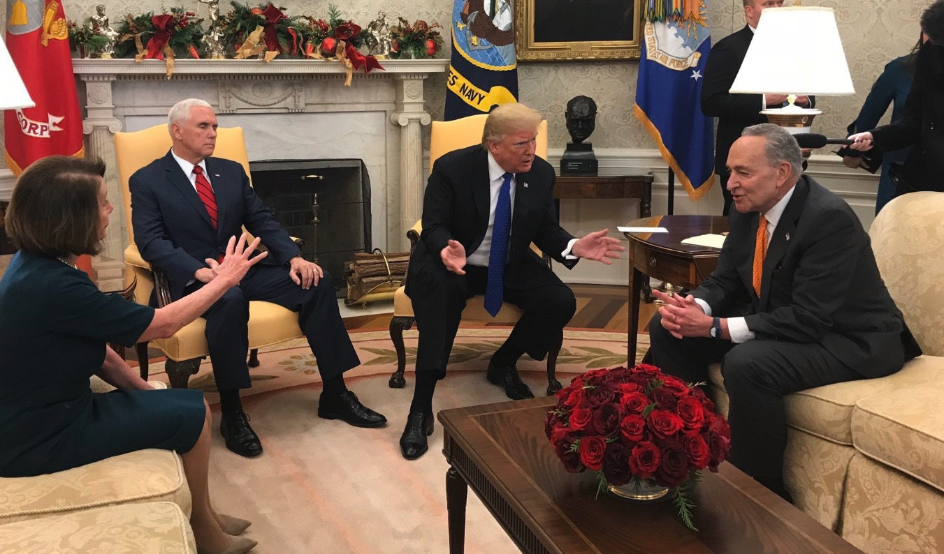 mike pence sat silently with eyes closed while trump trolled pelosi  schumer  and everyone
