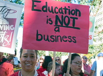 Billboard Tells LA Teachers They'll Save $1,000 Per Year If They Quit Their Union