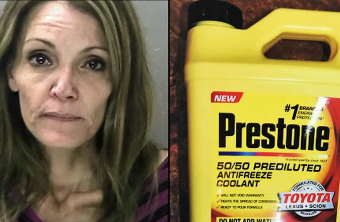 Woman Allegedly Tries To Poison Husband With Antifreeze, Gets Caught By 4-Year-Old Son
