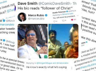 Rubio Tweets Photograph of Qadaffi's Bloody Murder… Everyone Pounces
