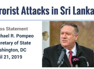 Pompeo: Several US Citizens Killed In Sri Lanka Attacks