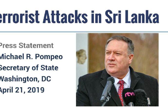 Pompeo: Several US Citizens Killed In Sri Lanka Attacks