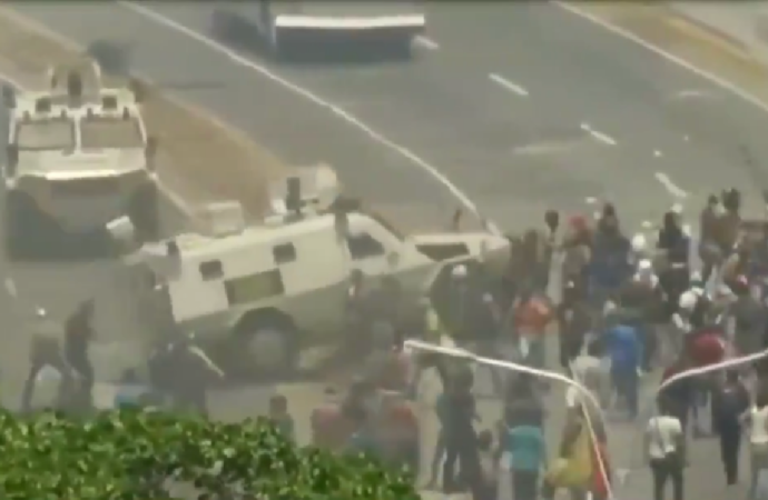 Pro-Maduro Military Flattens Protester With Tank, Leaves Him Bloody [VIDEO]