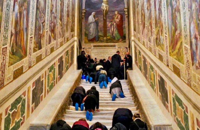Vatican Unveils Stairs That Jesus Walked To Face Pilate's Judgement For First Time In 300 Years