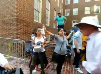 White Male Leftist Assaults Pregnant Venezuelan Woman at Protest in DC [VIDEO]