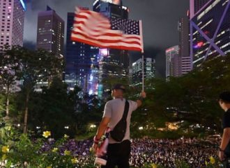 Hong Kong Protesters Wave American Flag, Inspired By Patriot Prayer