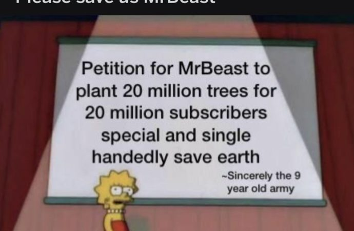 #TeamTrees by MrBeast and Mark Rober Planting 20 Million Trees by 2020