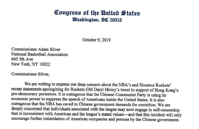 AOC, Ted Cruz Co-sign Congressional Request to the NBA