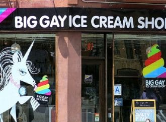 [VIDEO] Mike Bloomberg Eats Big Gay Ice Cream